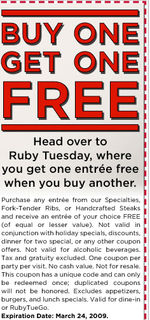 Dining Deals Ruby Tuesday