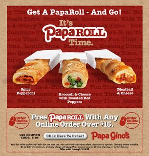 photo relating to Papa Gino's Printable Coupons named Eating Promotions: Papa Ginos